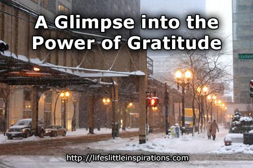 A Glimpse into the Power of Gratitude