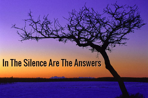 In The Silence Are The Answers…